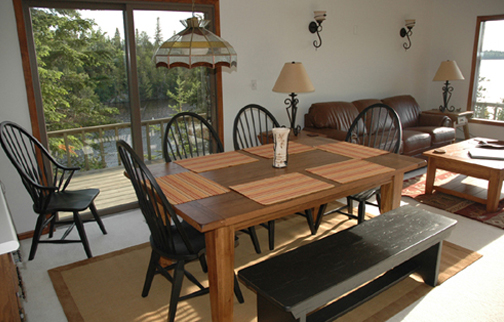 Rainy lake vacation home rentals up north vacation rentals for 6 person dining room table